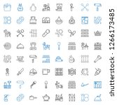 utensil icons set. collection... | Shutterstock .eps vector #1266173485