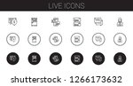 live icons set. collection of...