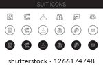 suit icons set. collection of... | Shutterstock .eps vector #1266174748