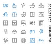 indoor icons set. collection of ... | Shutterstock .eps vector #1266177502