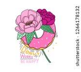 modern illustration flowers and ... | Shutterstock .eps vector #1266178132