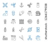 sharp icons set. collection of... | Shutterstock .eps vector #1266179038