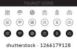 tourist icons set. collection... | Shutterstock .eps vector #1266179128