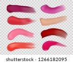 lipstick smudge and stroke... | Shutterstock .eps vector #1266182095