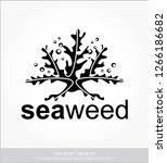 seaweed vector template   Shutterstock .eps vector #1266186682