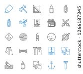sharp icons set. collection of... | Shutterstock .eps vector #1266187345