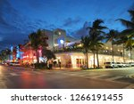miami beach  florida 12 19 2018 ... | Shutterstock . vector #1266191455