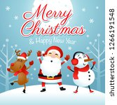 merry christmas   happy new... | Shutterstock .eps vector #1266191548