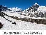 the corbassiere glacier is a...   Shutterstock . vector #1266192688