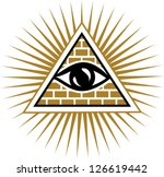 vector image   eye of... | Shutterstock .eps vector #126619442