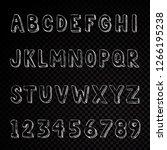 hand drawn alphabet typography... | Shutterstock .eps vector #1266195238