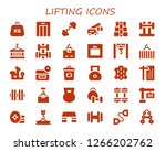 lifting icon set. 30 filled... | Shutterstock .eps vector #1266202762