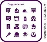 degree icon set. 16 filled... | Shutterstock .eps vector #1266202975