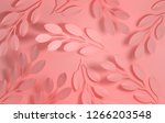 paper branches with leaves... | Shutterstock . vector #1266203548