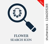 flower search icon. flower icon ... | Shutterstock .eps vector #1266205285