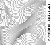 black and white wavy stripes... | Shutterstock .eps vector #1266216235