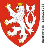 coat of arms of bohemia is the... | Shutterstock .eps vector #1266226288
