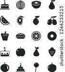 solid black vector icon set  ... | Shutterstock .eps vector #1266233215