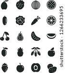 solid black vector icon set  ... | Shutterstock .eps vector #1266233695