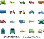 color flat icon set   passenger ... | Shutterstock .eps vector #1266240718