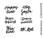 happy time  hey santa  happy... | Shutterstock .eps vector #1266241078