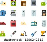 color flat icon set   washing... | Shutterstock .eps vector #1266242512