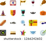 color flat icon set   a glass... | Shutterstock .eps vector #1266242602