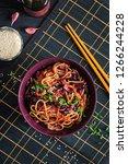 chinese food. vegan stir fry... | Shutterstock . vector #1266244228