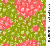 vector christmas pattern with... | Shutterstock .eps vector #1266251278