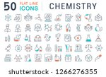 set of vector line icons of... | Shutterstock .eps vector #1266276355