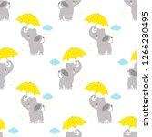 cartoon style pattern of funny... | Shutterstock .eps vector #1266280495