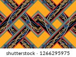 interlaced pattern abstract... | Shutterstock . vector #1266295975