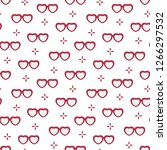 seamless pattern with heart... | Shutterstock .eps vector #1266297532