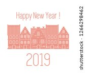 happy new year 2019 card....   Shutterstock .eps vector #1266298462
