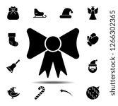 bow icon. simple glyph vector...