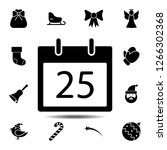 calldar 25 number icon. simple...