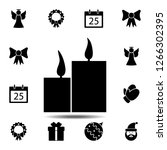 candles icon. simple glyph...