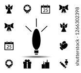 garland light bulb icon. simple ...
