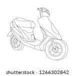 motorcycle icon and... | Shutterstock .eps vector #1266302842