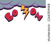 thunderstorm lightning strike.... | Shutterstock .eps vector #1266304468