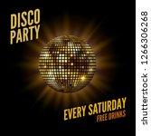 disco dance party background... | Shutterstock .eps vector #1266306268