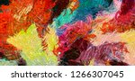 oil pastel drawing. abstract... | Shutterstock . vector #1266307045