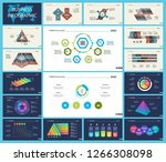 set of strategy or planning... | Shutterstock .eps vector #1266308098