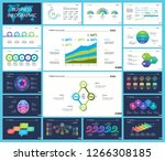 set of finance or investment... | Shutterstock .eps vector #1266308185