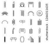coil icon set. outline set of... | Shutterstock .eps vector #1266311635