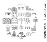 modern architecture icons set....   Shutterstock .eps vector #1266311962