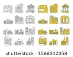 building icon set. vector... | Shutterstock .eps vector #1266312358