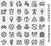 energy saving icon set. outline ... | Shutterstock .eps vector #1266318142