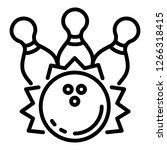 strike ball icon. outline... | Shutterstock .eps vector #1266318415