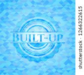 built up light blue mosaic... | Shutterstock .eps vector #1266322615